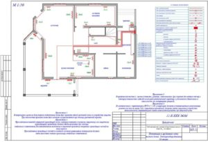 чертеж электроснабжения частного дома